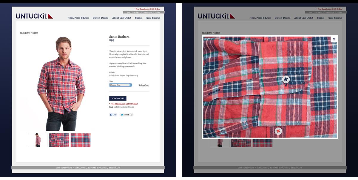 Untuckit Website Image 2