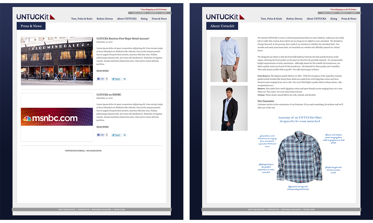 Untuckit Website Image 4