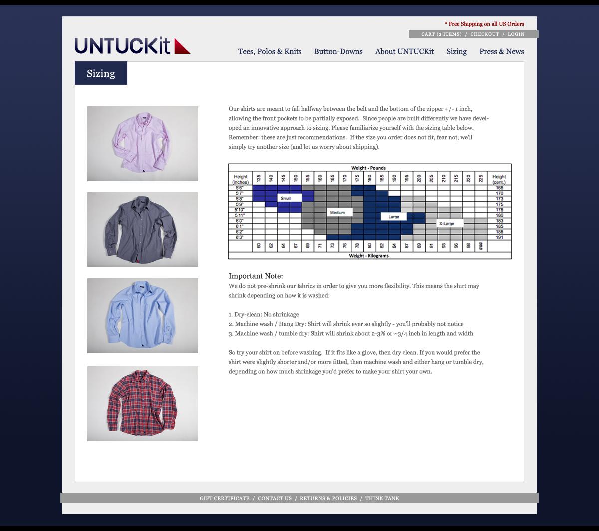 Untuckit Website Image 5